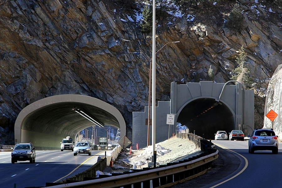 Twin Tunnels US I-70 Clear Creek Restoration Construction